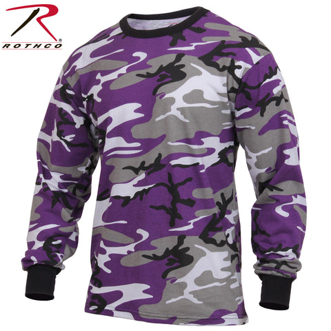 Men's Long Sleeve Purple Camo T-Shirt - Rothco Ultra Violet Camouflage L/S Tee