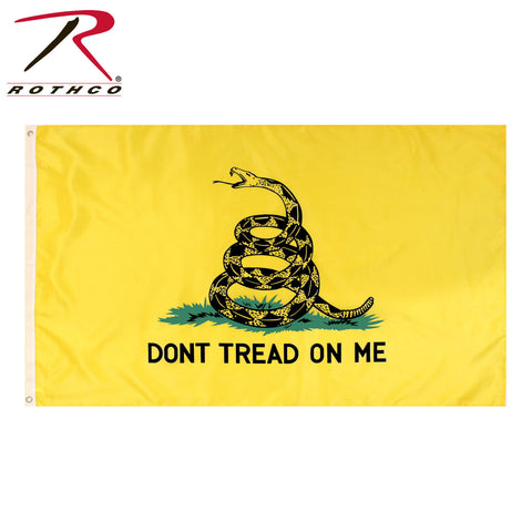 "Rothco ""Don't Tread On Me"" Military Flag - Yellow Flag With Gadsden Snake"