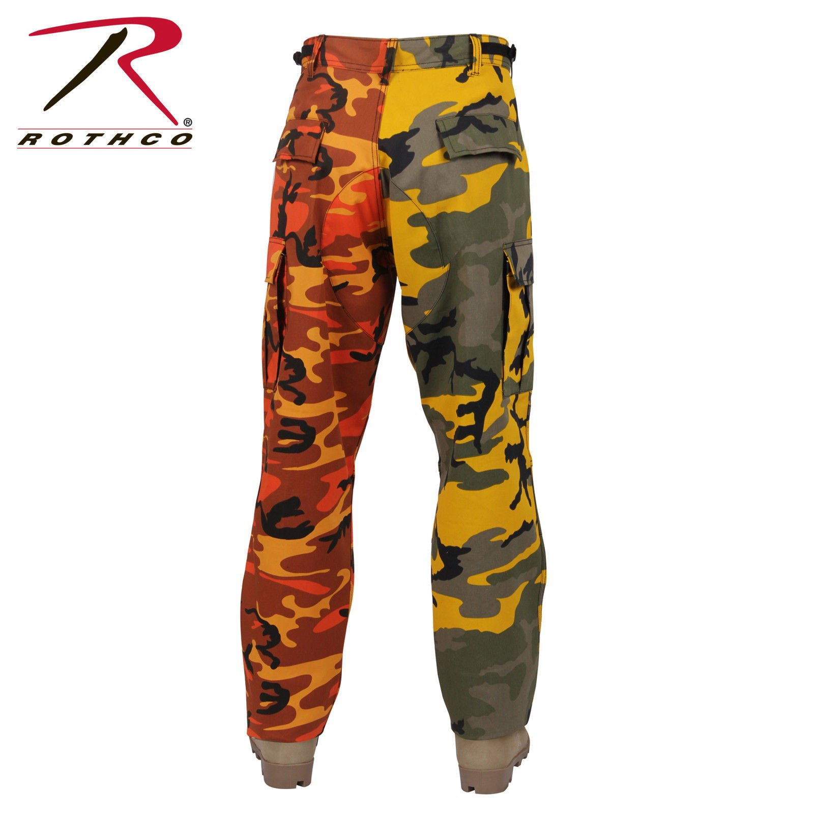 Rothco Two-Tone Camo BDU Pants Yellow and Orange or Ultra Violet and City