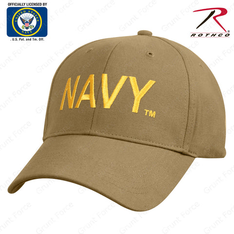 Coyote Brown Mid-Low Pro Baseball Style Hat - Offically Licensed By U.S. NAVY ™
