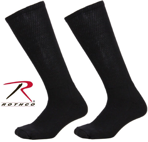 Black Anti-Microbial Compression Military Combat Boot Socks USA Made Rothco 3564