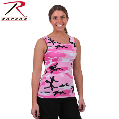 Rothco 4492 Women's Pink Camo Stretch Tank Top - Lightweight & Super Comfortable