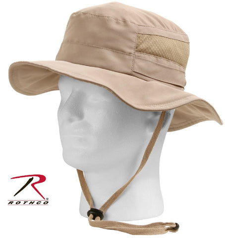 169d5391ea Rothco Lightweight Mesh Boonie Hat - Khaki Adjustable Summer Bucket Bush  Hats