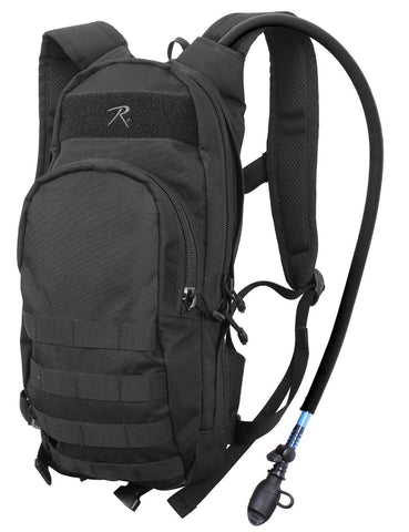Black Quickstrike Tactical Backpack - Narrow MOLLE H2O Compatible Bag Rothco
