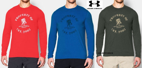 Mens Under Armour Property of Wounded Warrior Project Long Sleeve Shirt