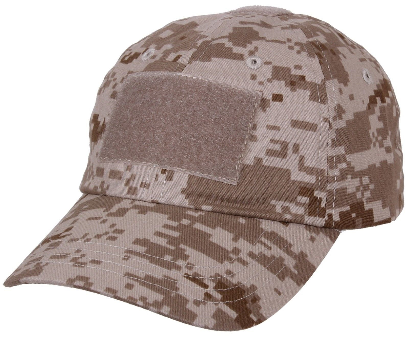b2422c85d5c Desert Digital Tan Camouflage Tactical Operator Cap - Patch Area Baseball  Hat. Zoom. Move your mouse over image or click to enlarge