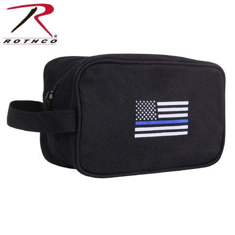 Rothco Thin Blue Line Travel Kit - Toiletry Travel Bag With Thin Blue Line Flag