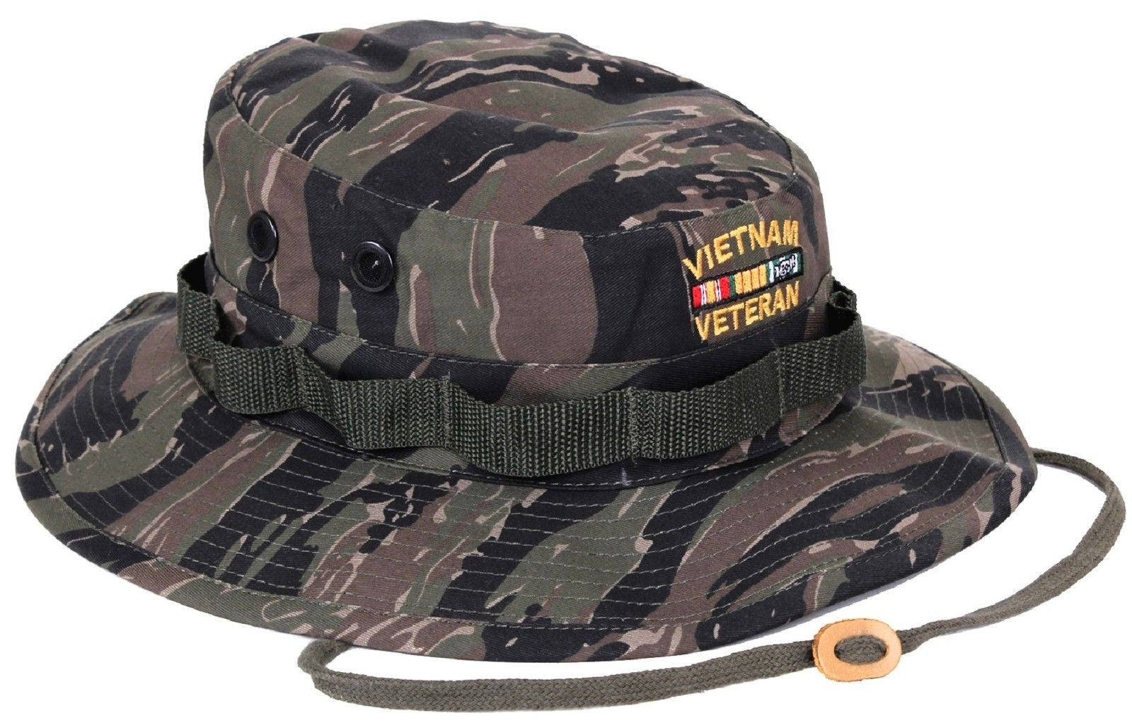 66a121b1b85 ... Embroidered VIETNAM VETERAN Boonie Bucket Hat S - XL NWT. Zoom. Move  your mouse over image or click to enlarge