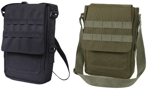 "Tactical Tablet Carrier Bag OD or Black 11"" MOLLE Tech Bags 9760"
