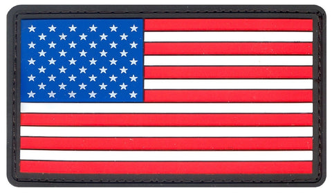 PVC USA American Flag Patch - Red, White & Blue Velcro-Type Hook Back Patches