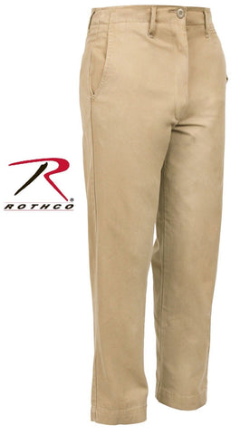 Mens Washed Cotton Khaki Chino Pants - Rothco Military-Style Vintage Chinos 2346