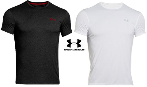 Under Armour Men's Original Fitted Crew Flyweight T-Shirt - Black or White UA