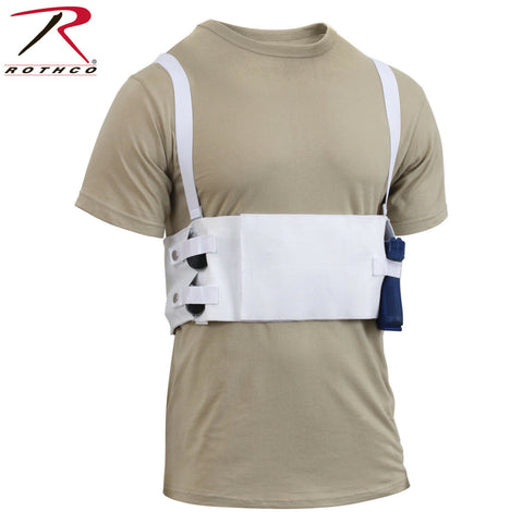 Rothco Deep Concealment Concealed Carry Chest Holster With Mag Pouches - White