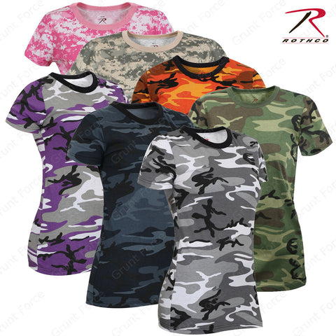 Rothco Women's Long Length Camo T-Shirt