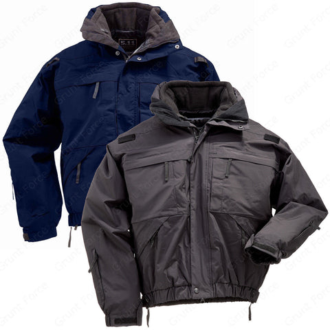 5.11 Tactical 5-In-1 Jacket - Men's All Season Jacket With Fleece Liner