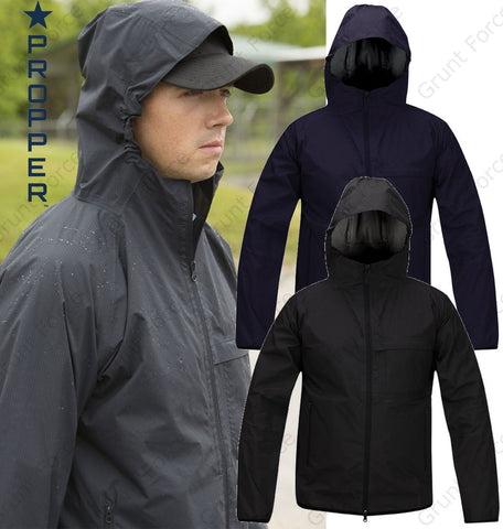 Propper Packable Waterproof Jacket - Black or LAPD Navy