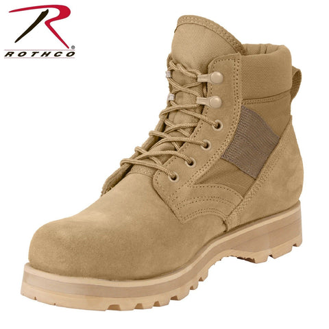"Rothco Military Combat Work Boot - Men's 6"" Desert Tan Tactical Work Boots"
