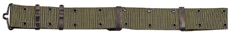 Men's Olive Drab Military-Style Pistol Belt With Metal Buckle Hardware Rothco