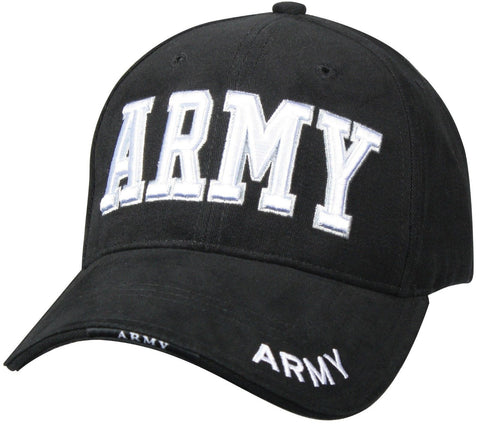 """ARMY"" Black Hat - Deluxe Baseball Cap"