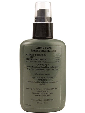 G.I. Miltary Type Insect Bug Repellent Spray - 2 fl oz 30% DEET Mosquito Spray
