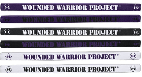6 Under Armour WWP Mini Headbands - SIX Womens Elastic Wounded Warrior Head Band