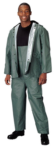 Rothco Olive Drab PVC Rainsuit - Unisex PVC Olive Rain Coat And Pants