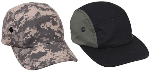 Rothco Adult 5-Panel Adjustable Military Street Cap Hat ACU Digital or Black/OD