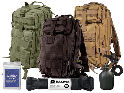 Outdoorsman Pack Bundle - Heavy Duty Transport Bag And Military Survival Gear