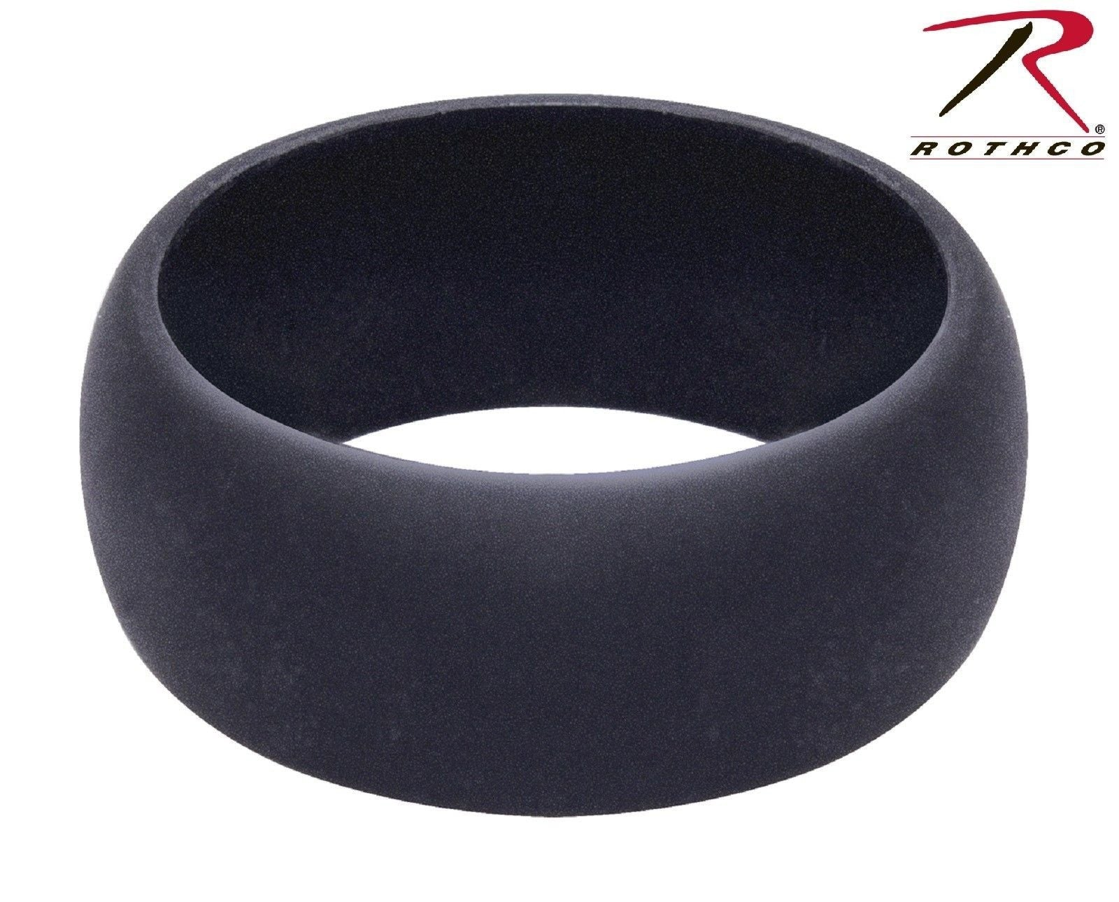 rothco silicone ring mens black silicone wedding band tactical