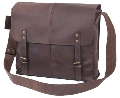 Durable & Stylish Classic Brown Leather Medic Shoulder Bag Rothco 81480