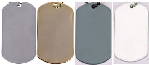Stainless Steel Electro Plating Dog Tag Pair- Rothco GI Military Type Dog Tags