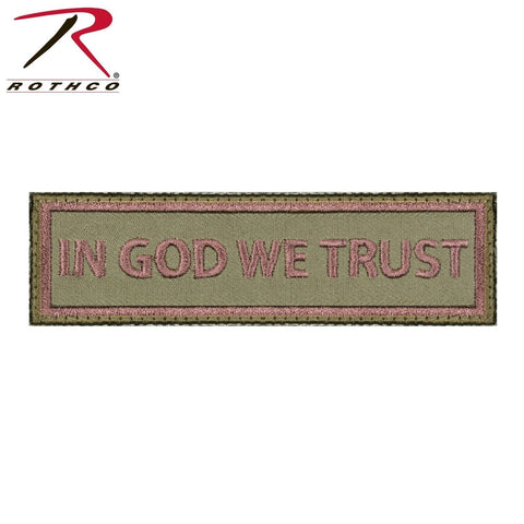 "Rothco ""In God We Trust"" Morale Patch - Rectangular Hook & Loop Tactical Patch"