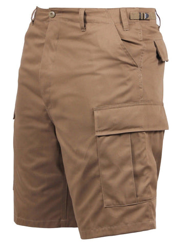 Men's Coyote Brown BDU Cargo Shorts - 6 Pocket Casual Military Style Shorts S-3X