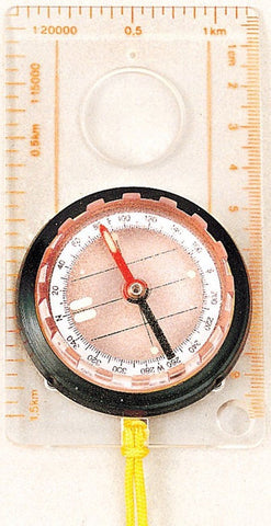 Rothco Liquid Filled Map Compass - Fine Graduations, Magnifying Glass & Lanyard