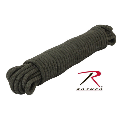 "50' or 100' 3/8"" Thick Olive Drab Tactical Utility Rope Tensile Strength: 1200lb"