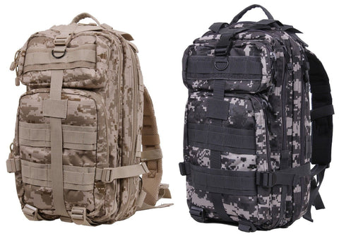 "Camouflage Medium Transport Pack -17"" Desert or Urban Digital MOLLE Backpack Bag"