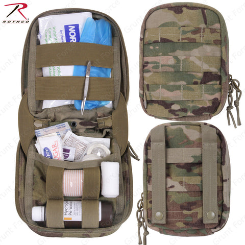 Rothco MultiCam MOLLE Tactical Trauma First Aid Kit - Includes Medical Supplies