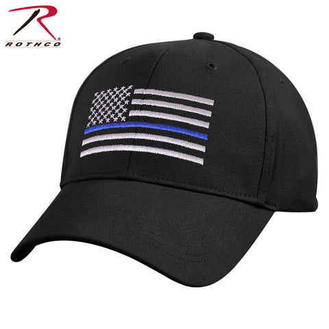 Kids Thin Blue Line Baseball Hat - Kid's Mid-Low Profile TBL Black Tactical Cap