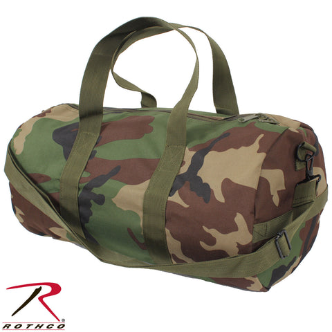 "Rothco 19"" Camo Shoulder Bag - 19"" x 9"" Heavyweight 600D Woodland Duffle Bag"