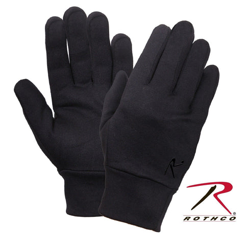 Rothco Polyester Black Glove Liner - S/M or L/XL Winter Glove Base Layer