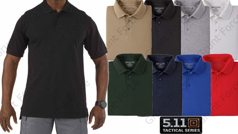 5.11 Tactical Professional Polo Shirt - Mens Short Sleeve Collared Golf Shirts