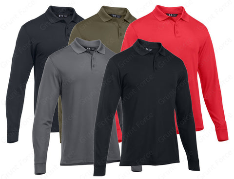 UA Tactical Performance Polo - Under Armour Men's Long Sleeve Tactical Shirt