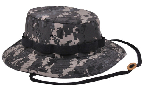 49f2d432785 Digital Camouflage Jungle Boonie Hat - Rothco Mens Camo Chin Strap Buc –  Grunt Force