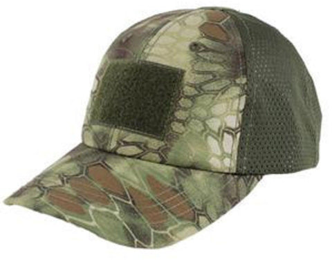 Kryptek Mandrake or Highlander Camo Mesh Tactical Cap Hat w/ Velcro Patch Areas