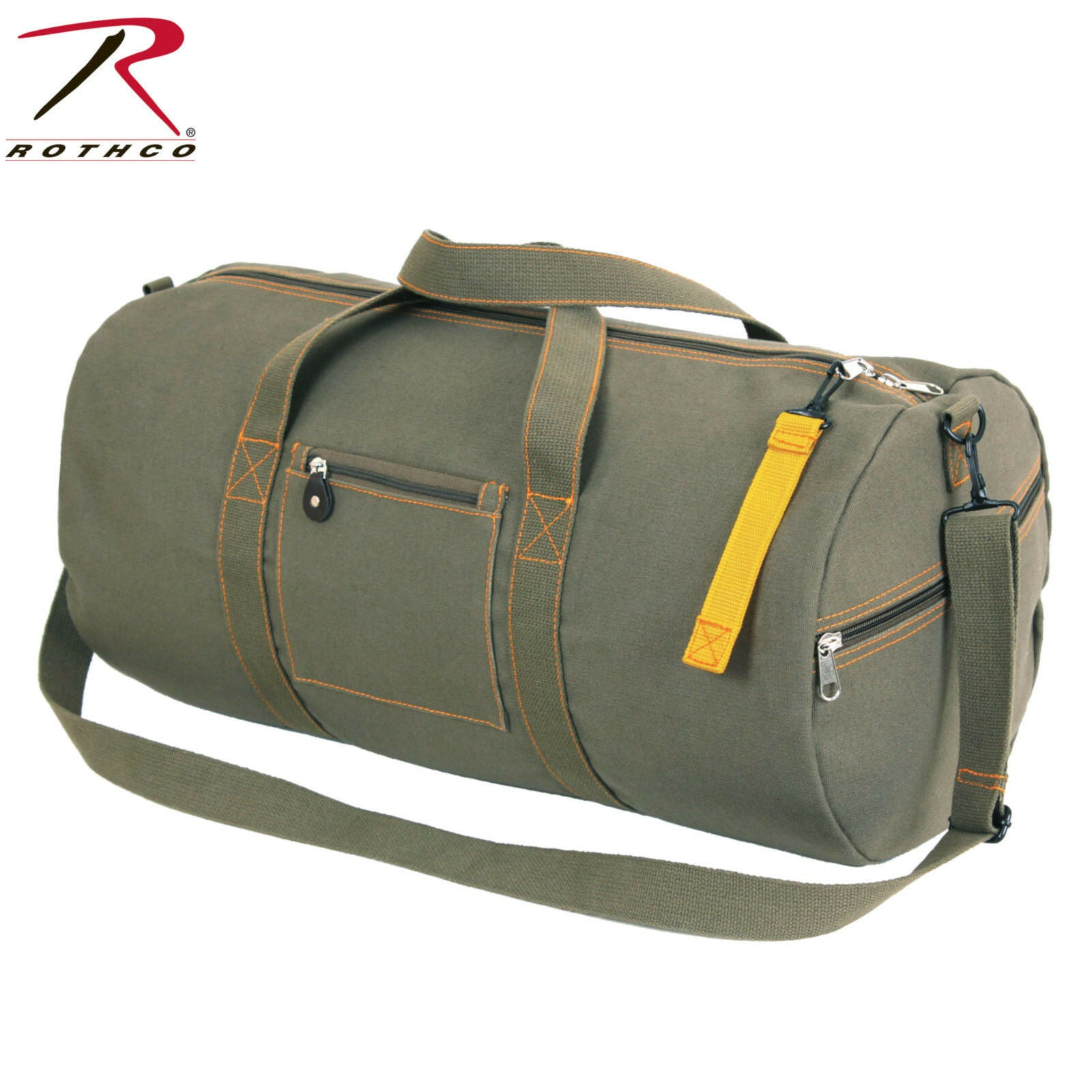 c7709fa28a ... Rothco 24 Inch Canvas Equipment Bag - Olive Drab Shoulder Duffle Gear  Bag