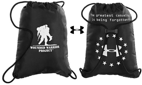 Under Armour Wounded Warrior Project Sackpack - UA WWP Cinch-Cord Backpack Bag