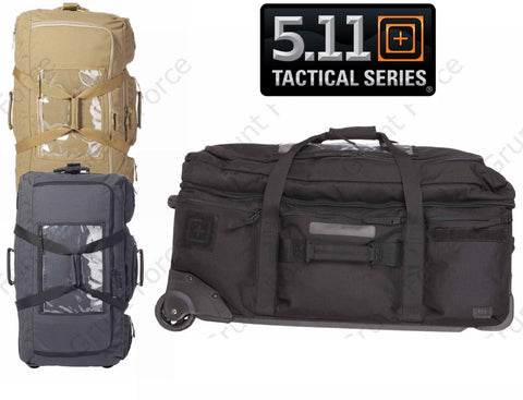 5.11 Black Mission Ready 2.0 Rolling & Stand Up Frame Tactical Travel Bag Pack