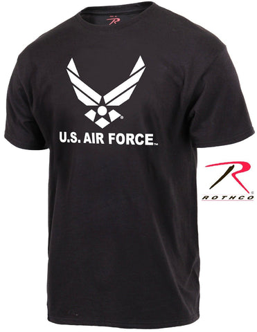 United States Air Force Tee Shirt - Rothco Mens Black USAF Military TShirt