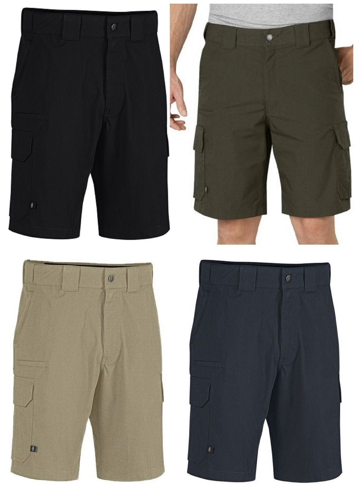 Dickies Stretch Rip-Stop Duty Short Mens Relaxed Fit Tactical Cargo Shorts