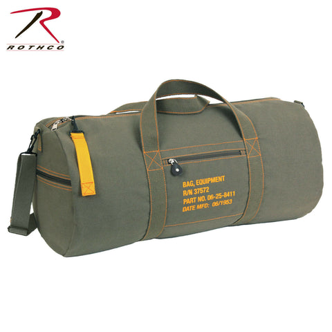 028824a37 Rothco 24 Inch Canvas Equipment Bag - Olive Drab Shoulder Duffle Gear Bag